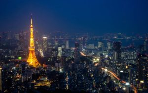 The amazing night cityscape of Tokyo, Japan